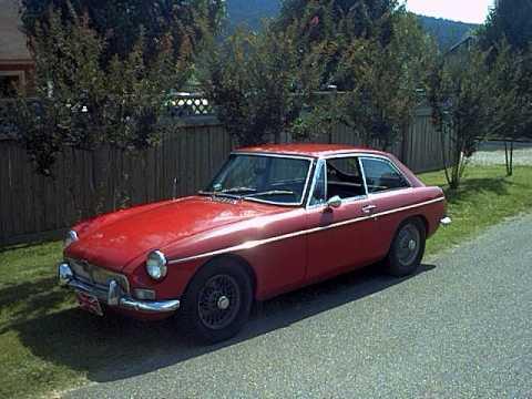 MG B GT Tartan Red